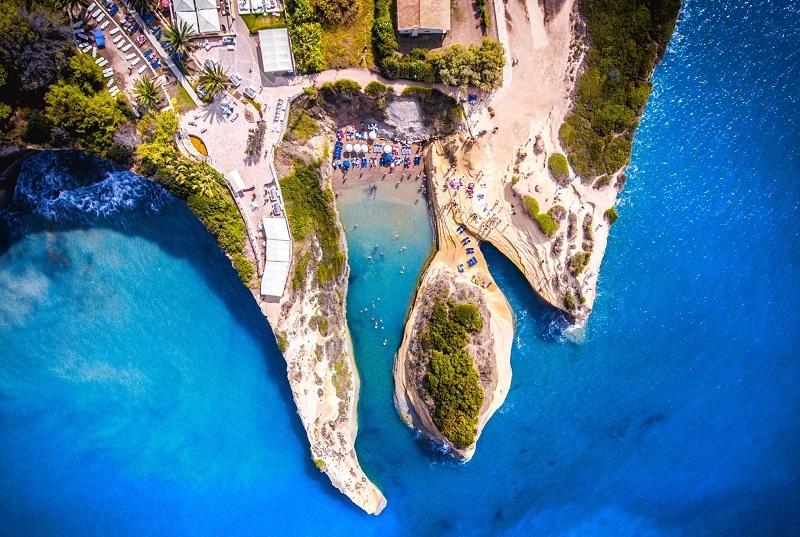 Canal d'Amour, ilha de Corfu