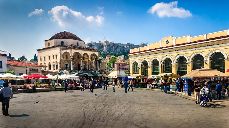 Monastiraki em Atenas