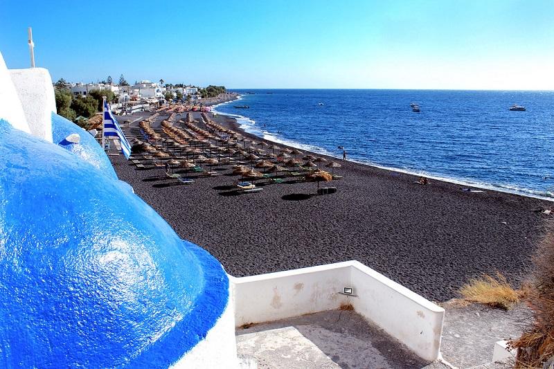 Kamari Beach em Santorini