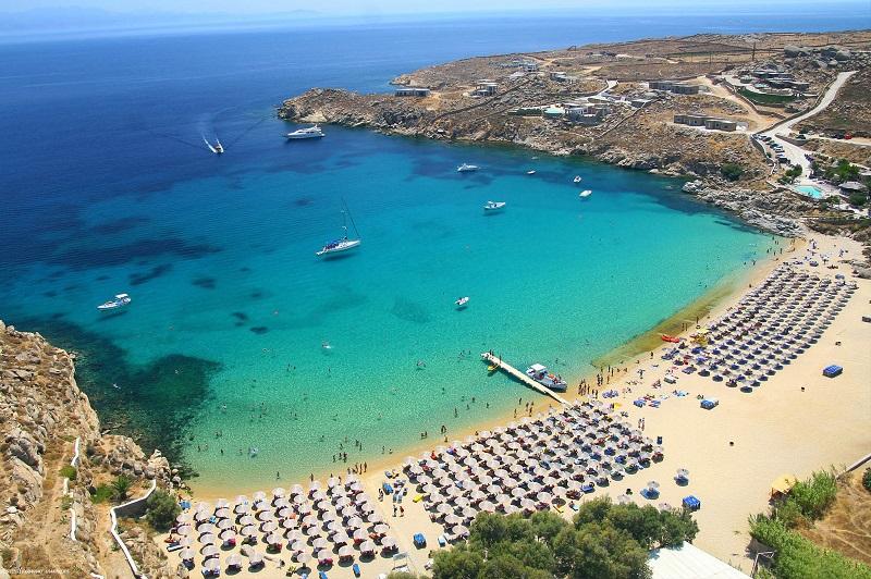 Super Paradise Beach, ilha de Mykonos