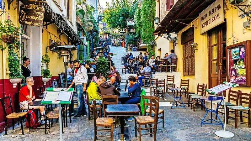 Anafiotika Café Restaurant em Atenas