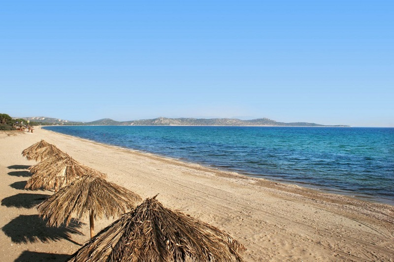Praia de Schinias perto de Atenas