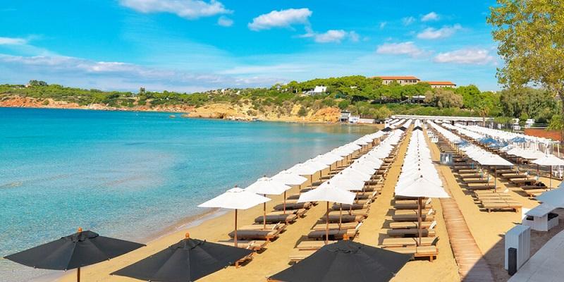 Praia de Astir perto de Atenas
