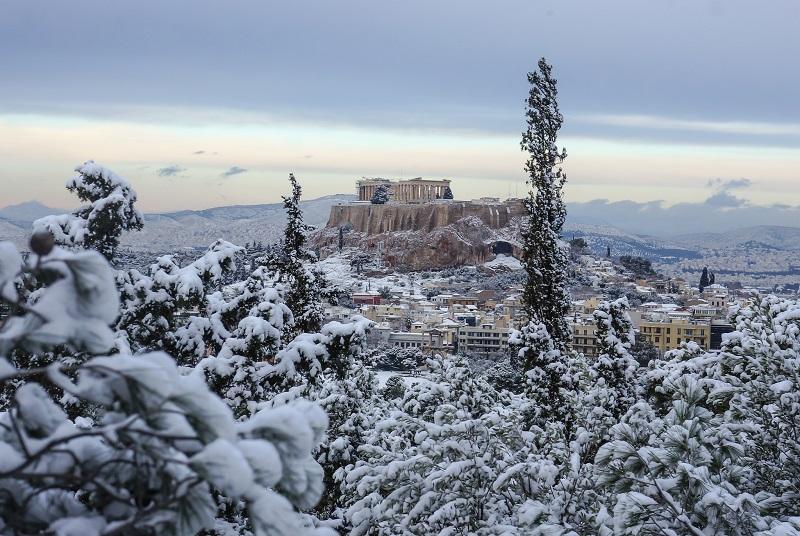 Neve em Atenas