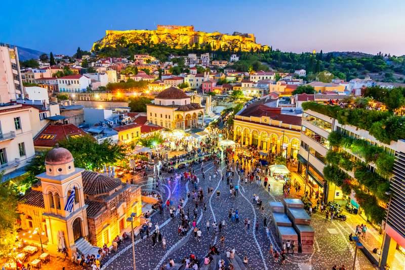 O que fazer à noite em Atenas