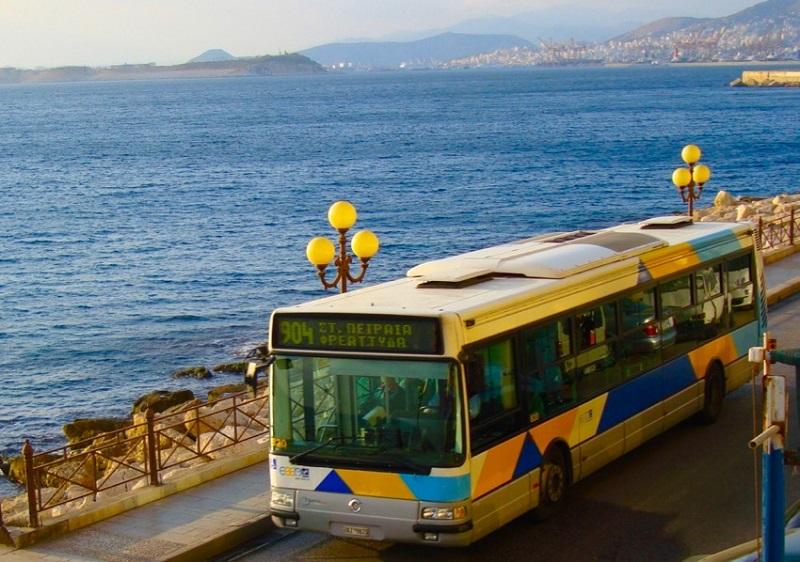 Ônibus em Atenas