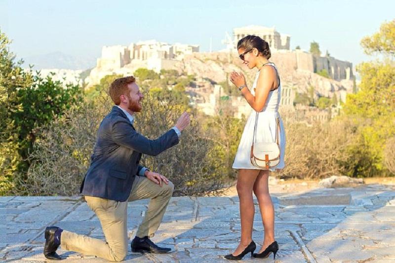 Pedido de casamento em Atenas