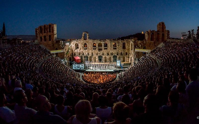 Teatro de Herodes à noite