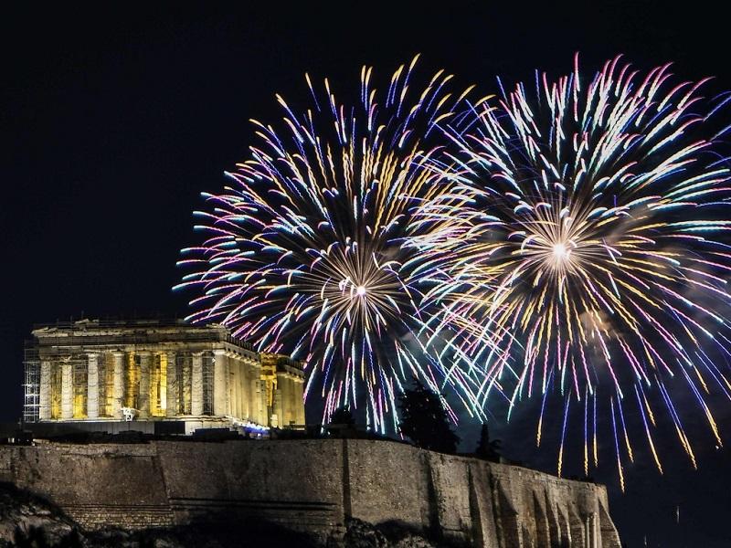 Ano-novo em Atenas