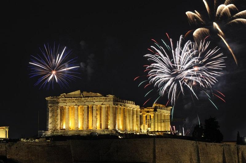 Atenas à noite