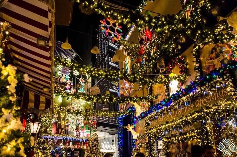 Decoração de Natal em Atenas