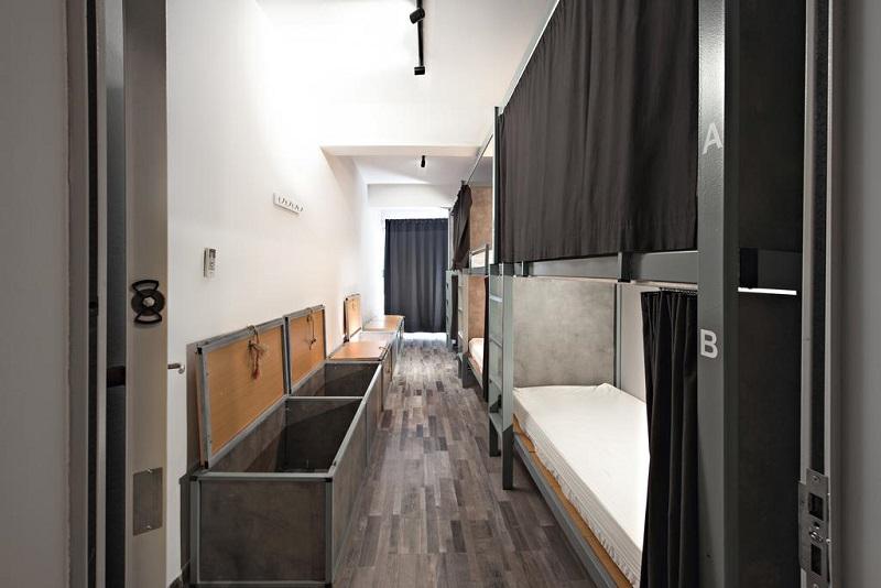 Quarto do Bedbox Hostel em Atenas