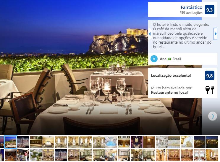 Restaurante do Hotel Grande Bretagne em Atenas