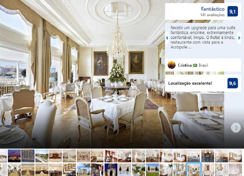 Restaurante do Hotel King George em Atenas