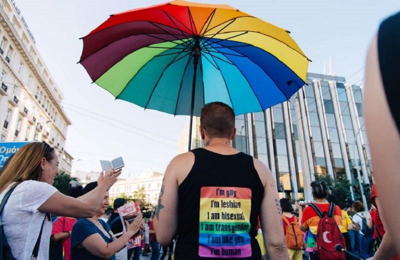 Parada na Semana do Orgulho LBGTI de Atenas