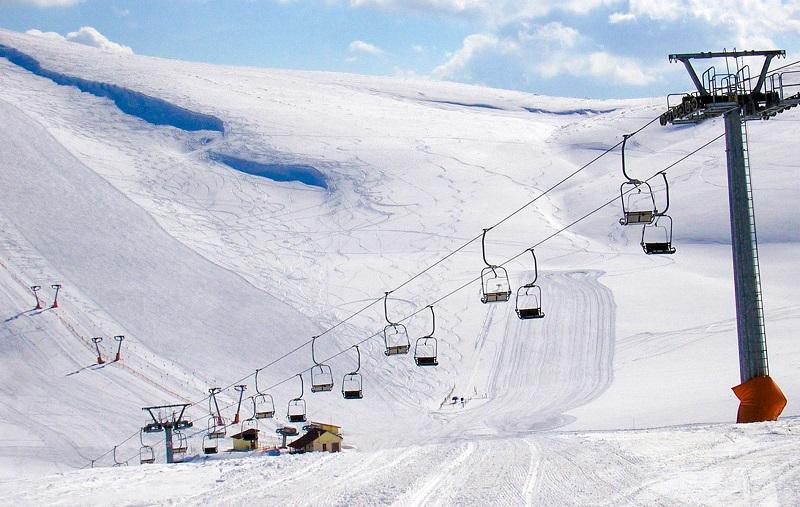 Pista de esqui em Atenas