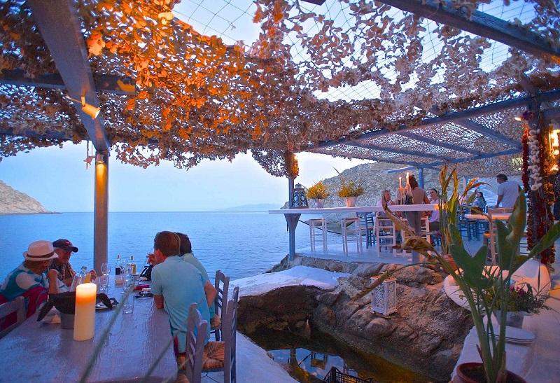 Restaurante Seaside em Mykonos