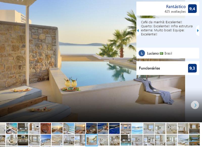 Piscina do Anax Resort and Spa em Mykonos