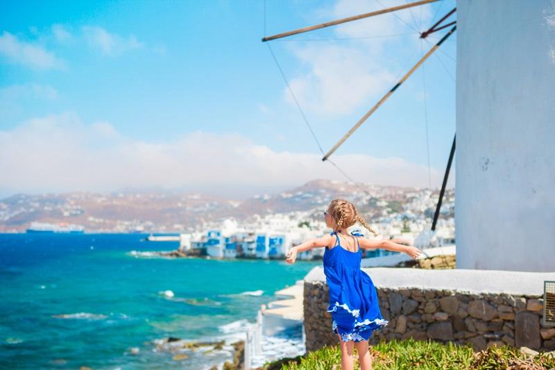 Criança em Mykonos