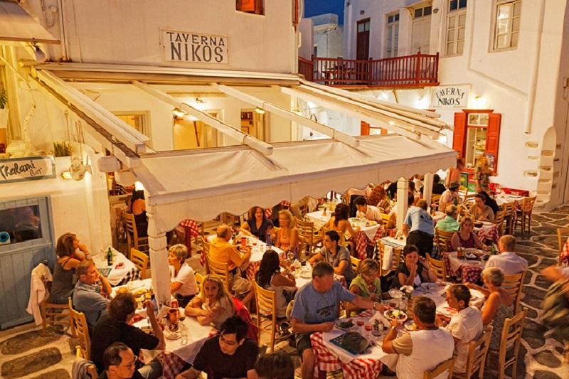 Restaurante Niko's Tavern em Mykonos