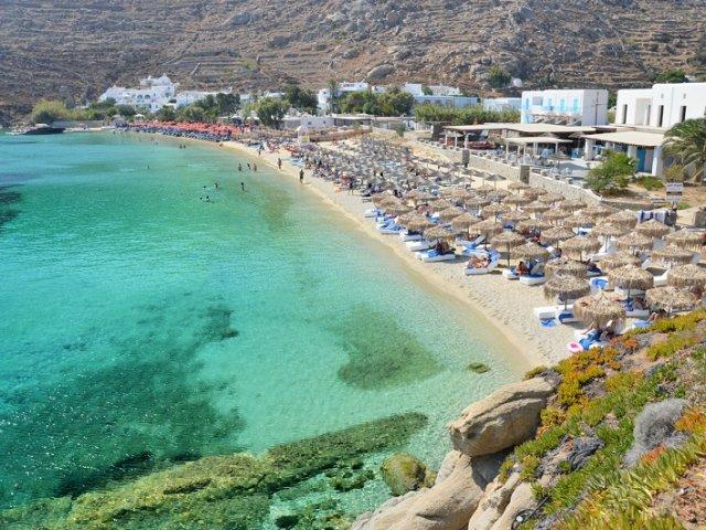Melhores praias em Mykonos