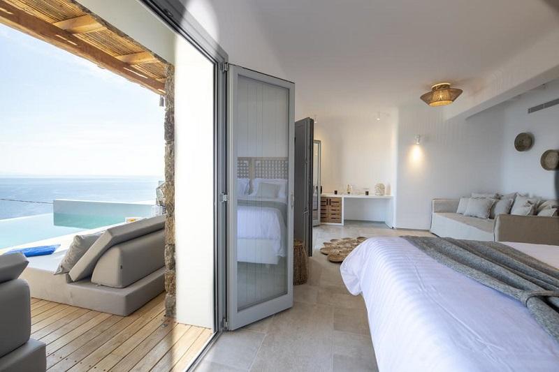 Quarto do Hotel Alissachni Mykonos