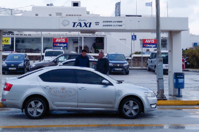 Do aeroporto até o centro de Mykonos de táxi