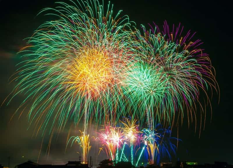 Fogos de artifício do Ano-novo na Grécia