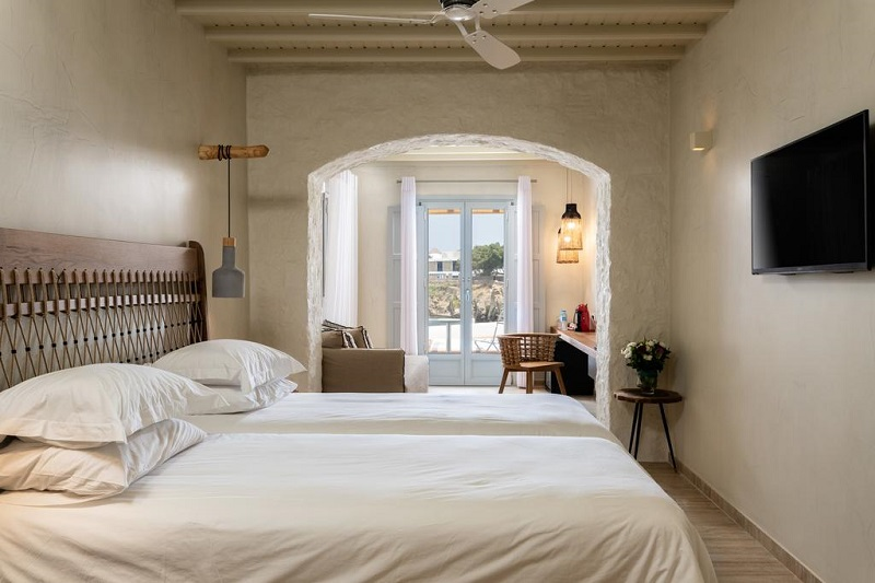 Quarto do Poseidon Hotel Suites em Mykonos