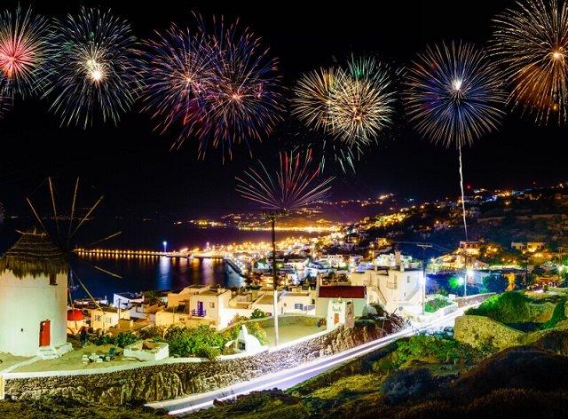 Ano-novo em Mykonos
