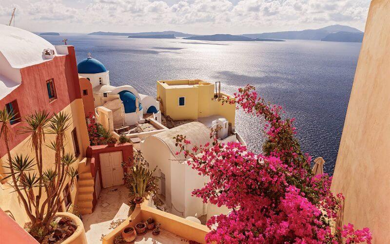 Santorini na primavera