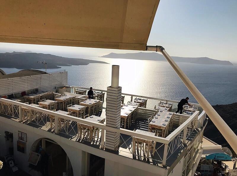 Restaurante Argo em Santorini
