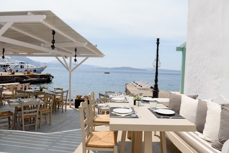 Restaurante Armeni em Santorini