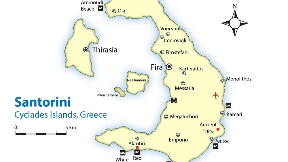 Praias de Santorini