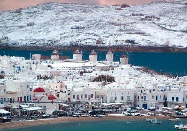 Meses com neve na Grécia