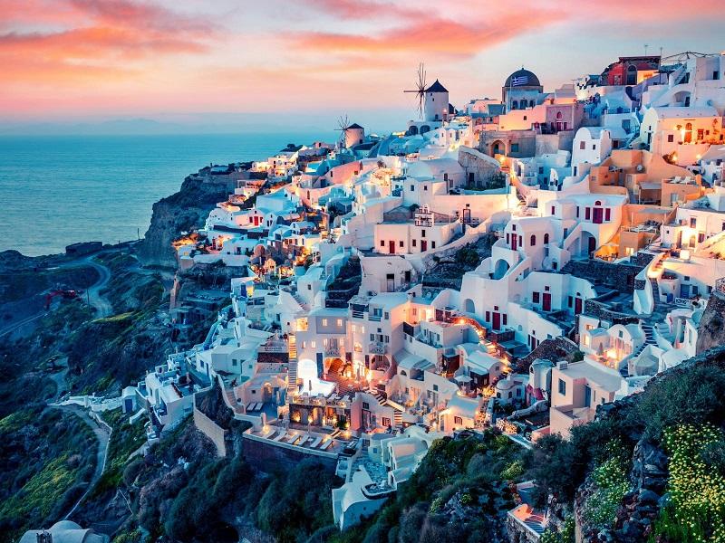 Fim de tarde em Santorini, Grécia