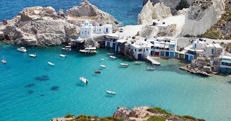 Ilha de Milos, na Grécia