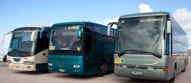 Ônibus nas ilhas gregas