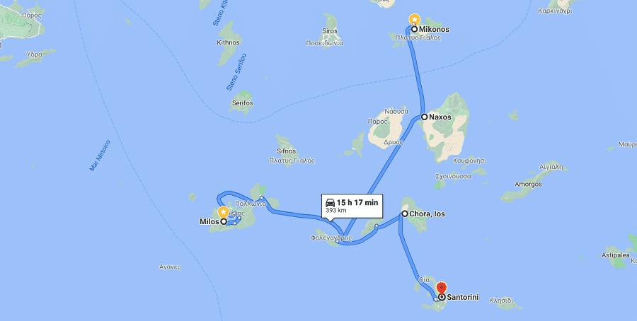Roteiro mais curto pelas ilhas da Grécia