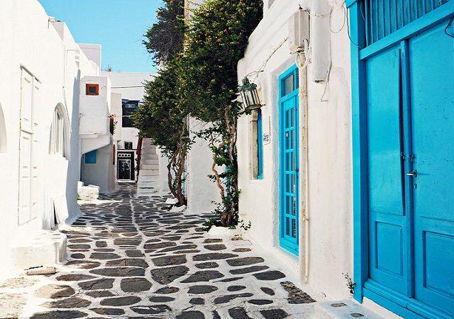 Como andar em Santorini
