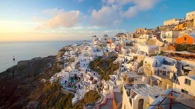Ilha de Santorini, na Grécia