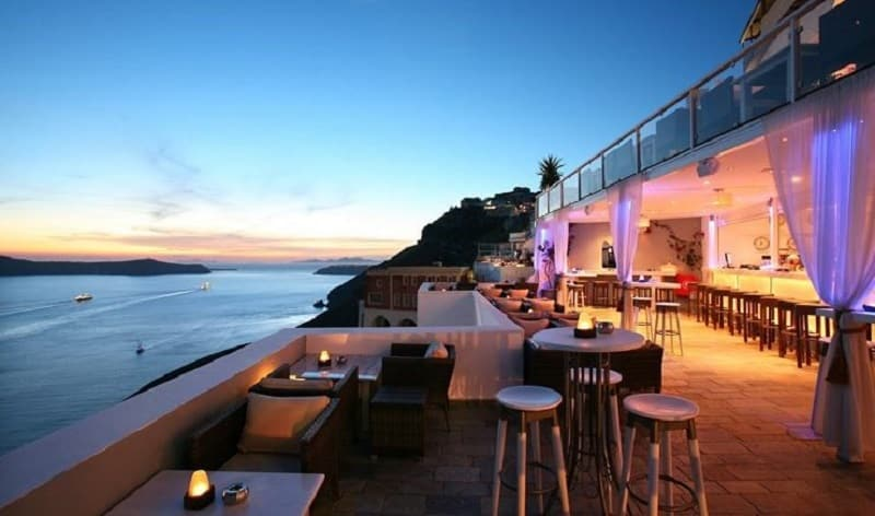 Tango Bar em Santorini