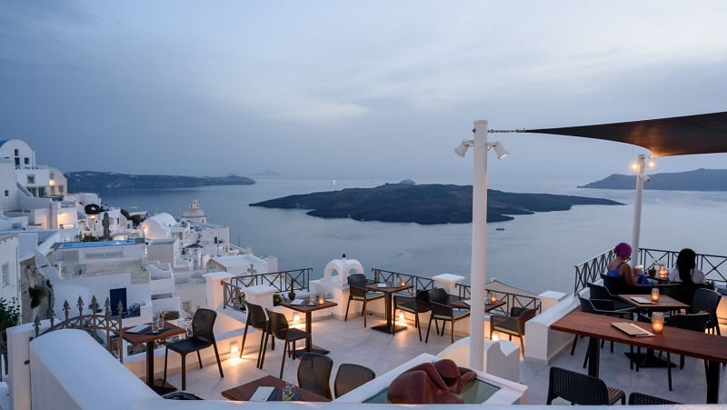 VR cafe Bar em Santorini