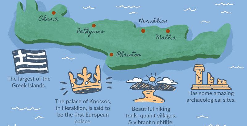 Mapa de Creta