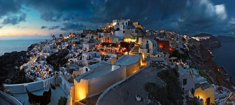 Noite de Natal em Santorini