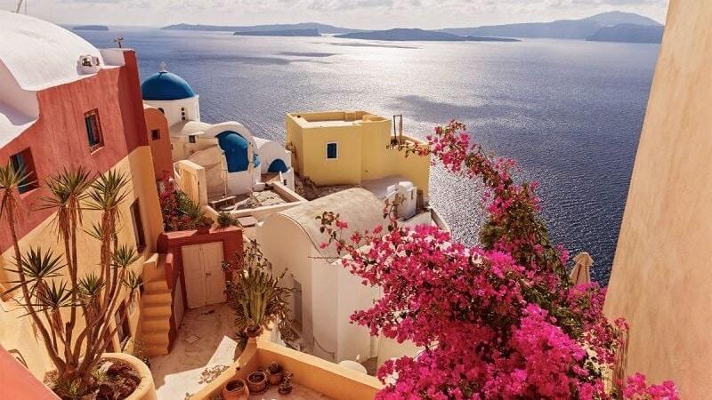 Passeio por Santorini