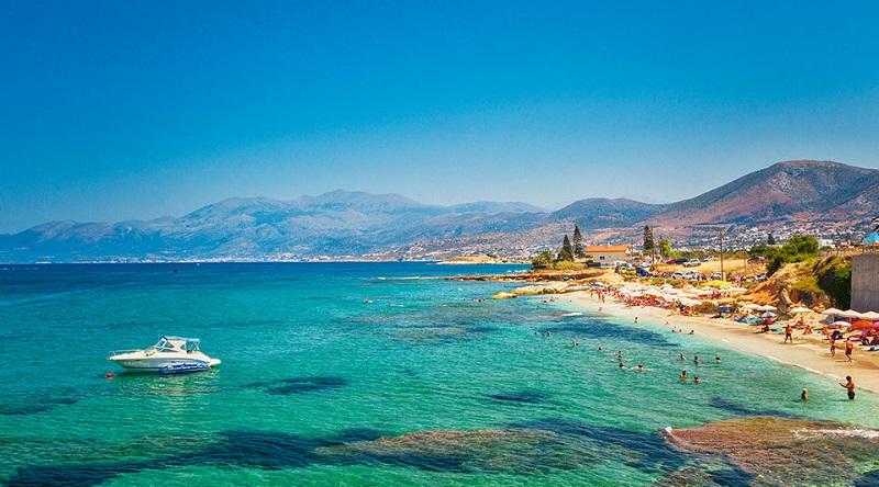 Pria na Ilha de Creta, na Grécia