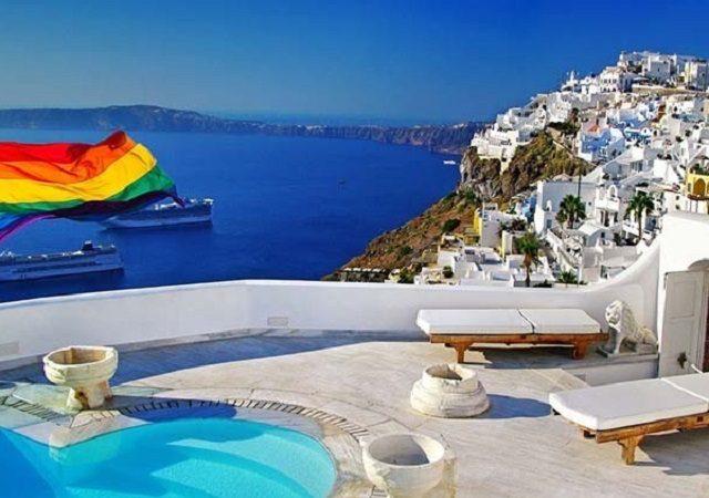 Lugares LGBTI em Santorini