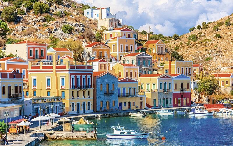 Ilha Symi na Grécia