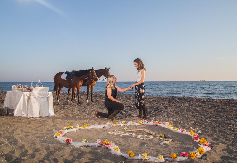Casal LGBTI em Santorini